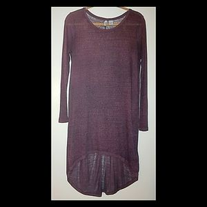 DIVIDED High-Low Dress Burgundy SZ Small